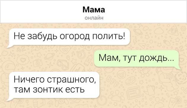 Прикольные перлы из СМС-переписок с родителями, у которых стоит поучиться тонкому искусству сарказма