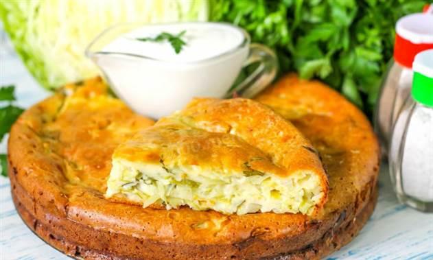 Самый быстрый пирог с капустой: заливаем и готово
