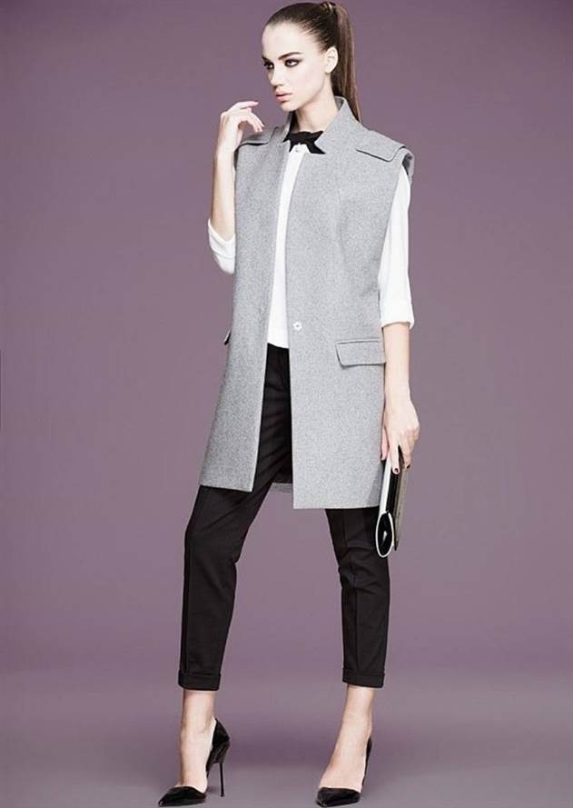 С чем носить жилет,жакет и пиджак без рукавов Ч2